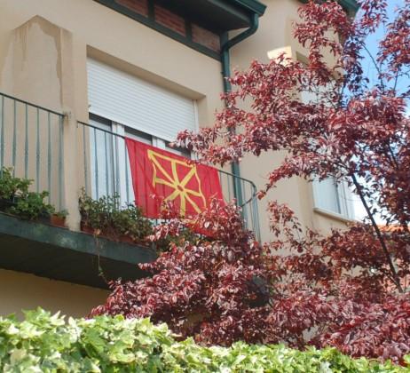 Bandera nafarra Bizkaian