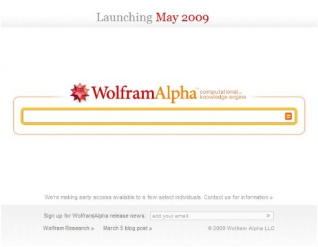 Wolfram bilatzailearen interfazea