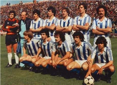 Realaren historiako lehenego Liga eskuratu zuten jokalariak.