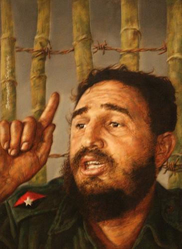 Fidel Castro, by Bernard Safran, Flickr