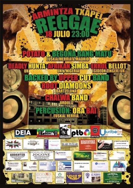 Aurtengo Txapel Reggae kartela