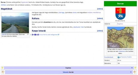 Dorraori buruzko artikulua euskarazko Wikipedian