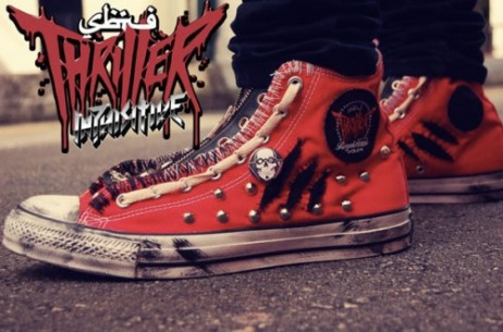 Thriller-en inspiratutako Converse All Star-ak
