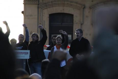 Sindikatuetako kideak Eusko Gudariak abesten - Oier Aranzabal cc