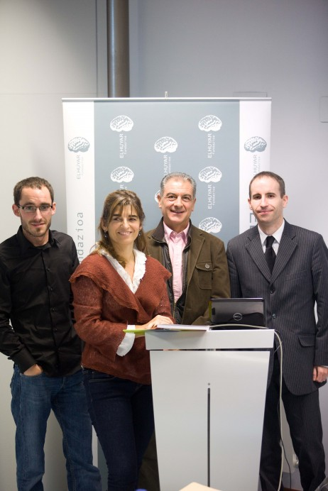 Ezkerretik eskuinera: Andoni Eizagirre, Itziar Nogeras, Luis Martínez de Luna eta Eguzki Urteaga