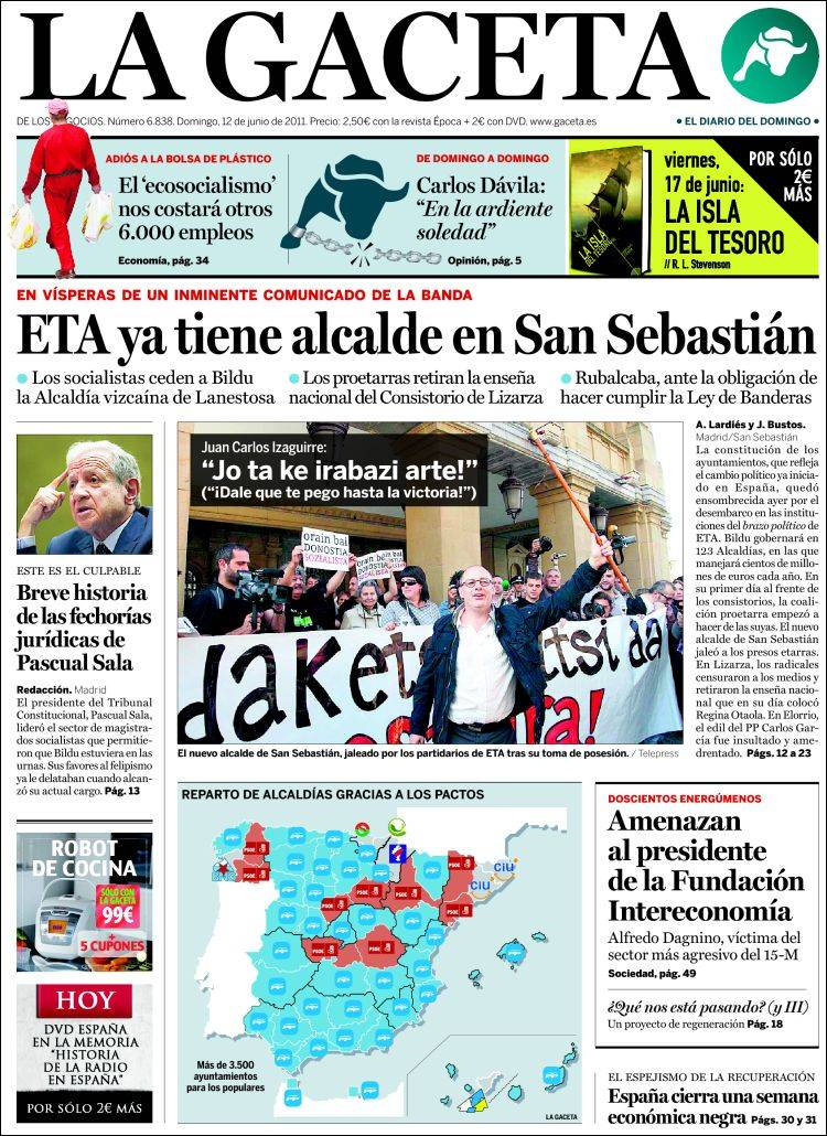 La Gacetaren azala (2011/06/12)
