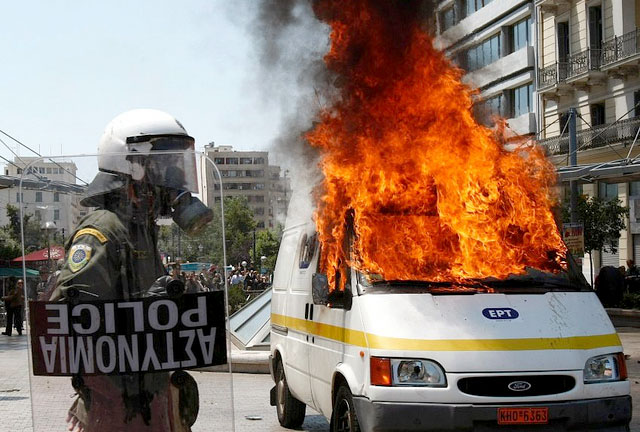 Greziako protestak