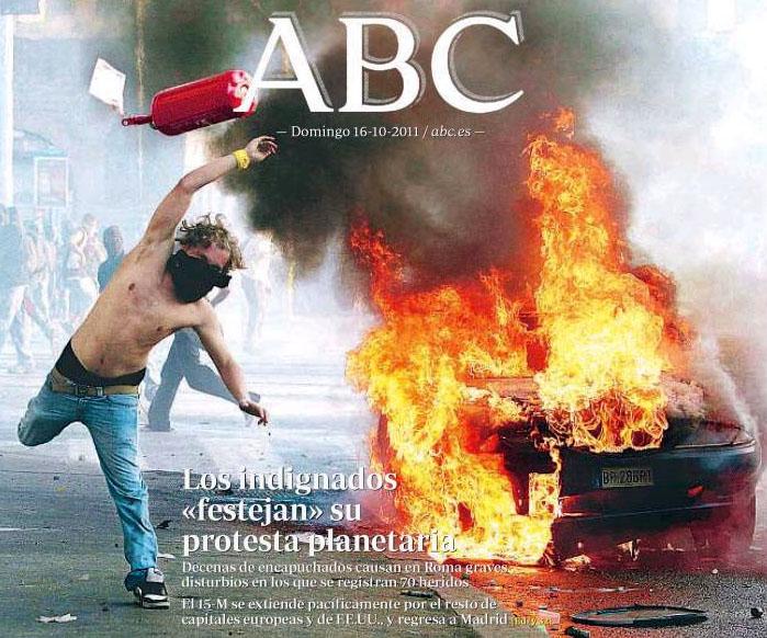 ABC egunkariko azala
