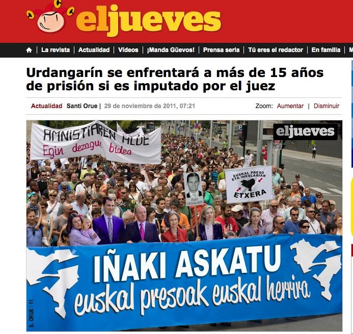 El Jueves astekaritik - Iñaki Urdangarin askatu!