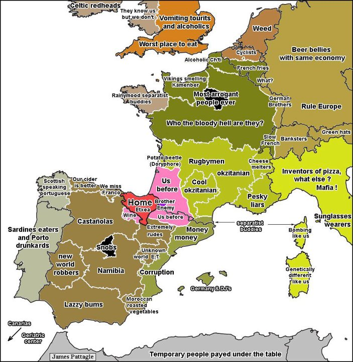 Austria Stereotype Map Mapping Stereotypes Pinterest Austria - Us stereotypes map