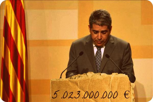 """Espainiari eskatutako 5.023 milioi euroek """"Kataluniaren autogobernu murritza"""" galbidean jarriko dute"""