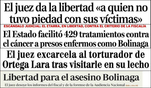 Espainiako hedabideetan Uribetxeberriaren askatasuna