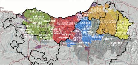 euskararen mapa