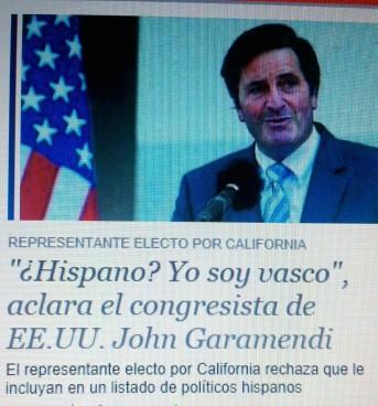 """John Garamendi: """"Hispanoa? Ez, ni euskalduna naiz"""""""
