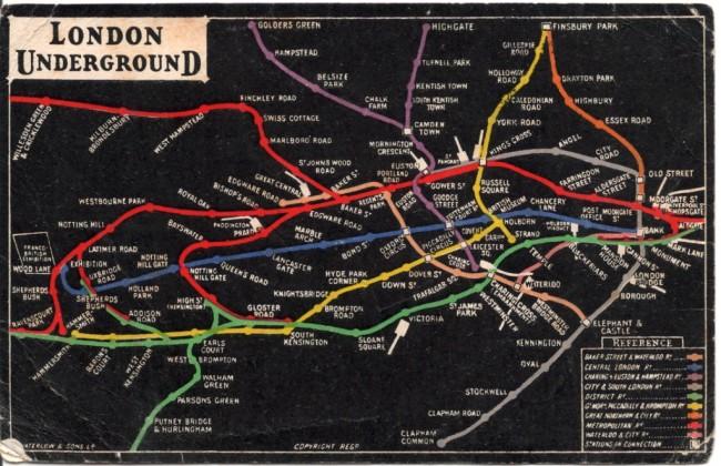 london underground map 1908