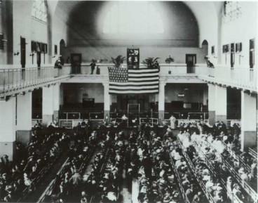 Ellis Island, etorkinen kontrolgunea New Yorken