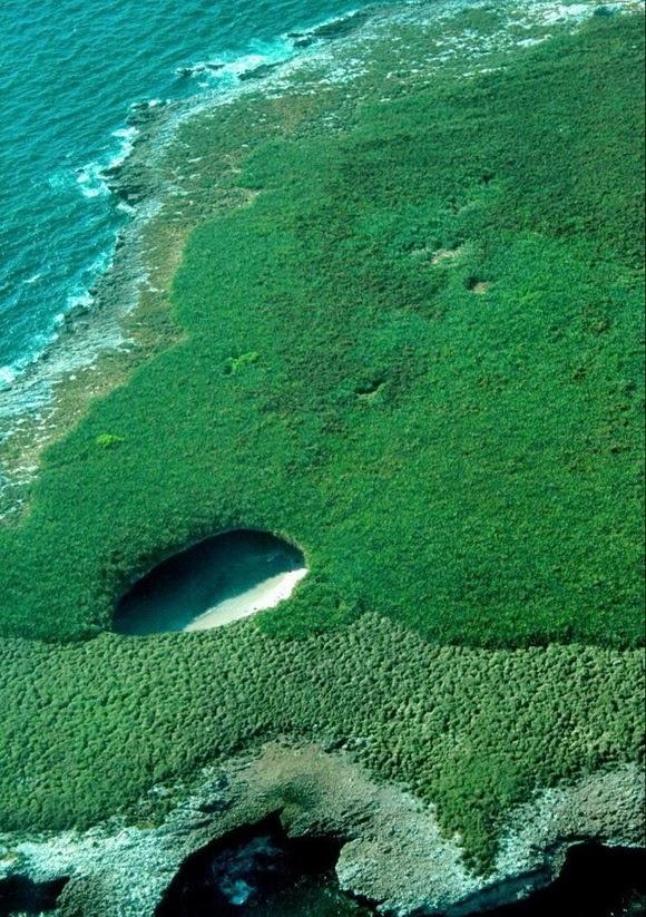 Hidden Beach on marieta islands, Mexiko