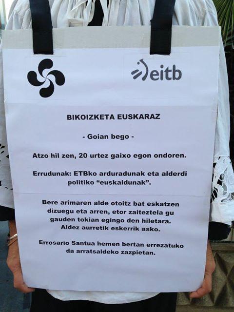 Euskarazko bikoizleen protesta