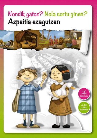 Azpeitia Ezagutzen lan koadernoaren azala.