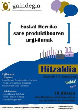 Hitzaldia Donostian: EHko sare produktiboaren argi-ilunak