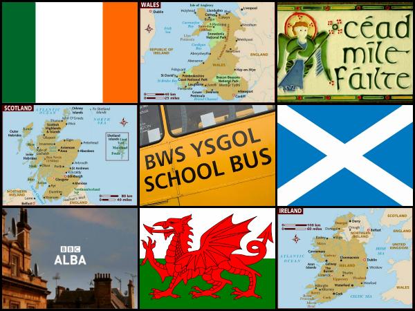 Galesa irlandera eta Eskoziako gaelikoa