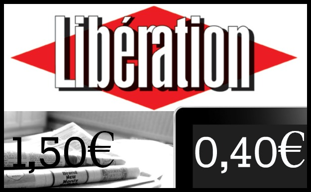 Paperezkoak 1,50€ balio du astelehentik ostiralera. Sareko harpidetzarekin, ordea, 0,40 eurotan irakur daiteke Liberation.