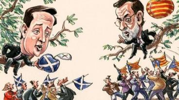 viñeta de financial times independencia escocia y catalunya oct 12