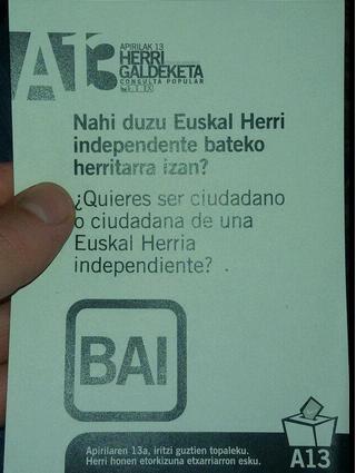 Etxarri-Aranatzek independentzia babestu du (%94) galdeketan