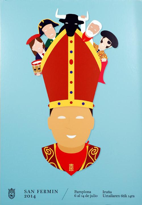Equipazo. Diseño Cartel Fiestas San Fermín 2014.