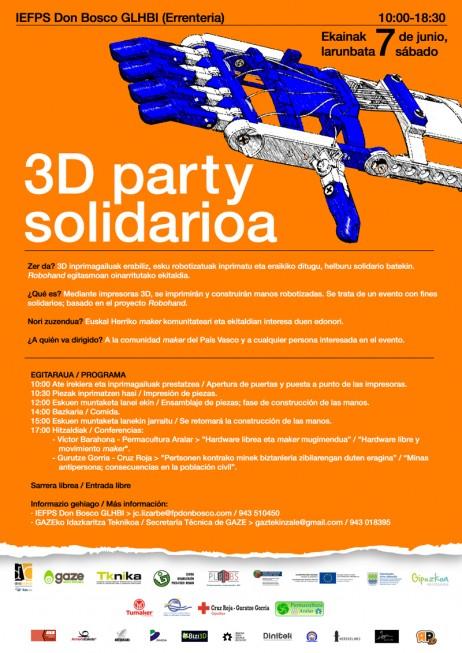 CARTEL (imagen web) 3D party solidarioa