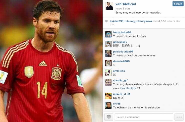 Zein da Xabi Alonsoren benetako Instagram kontua
