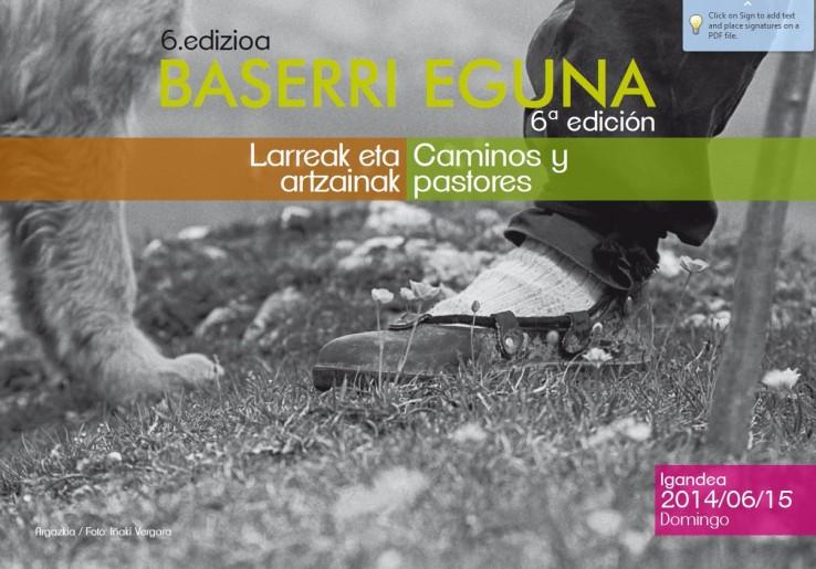 Baserri eguna 6. edizioa: Larreak eta artzainak Ekainak 15ean