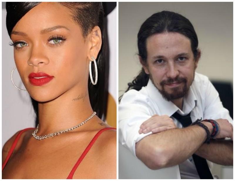 Rihanna eta Podemos jomugan