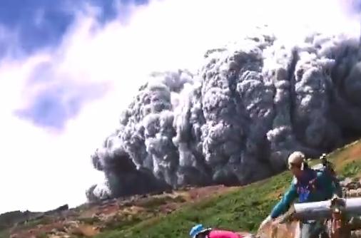 Japoniako Ontake sumendiaren erupzioa