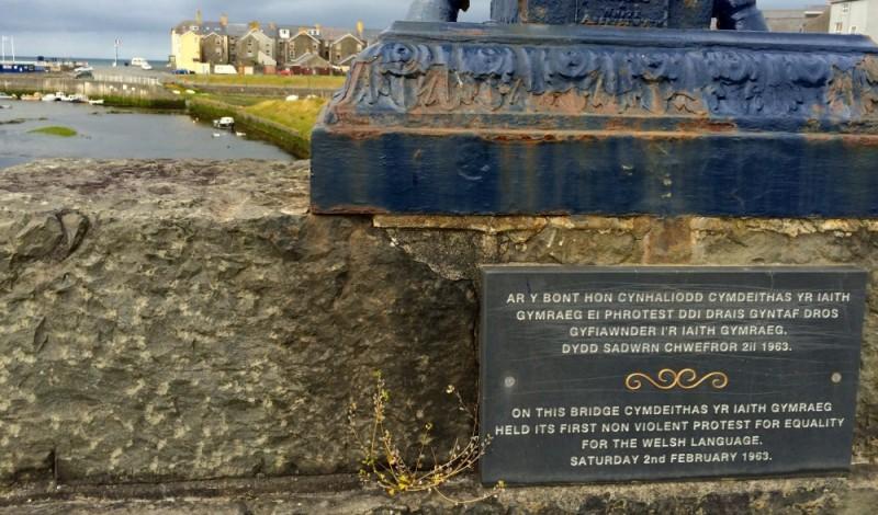Aberystwyth-eko zubi honetan gertatu zen Galesaren berdintasunaren aldeko lehenbiziko ekintza baketsua
