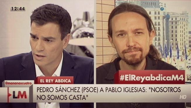 Pedro Sanchez eta Pablo Iglesias