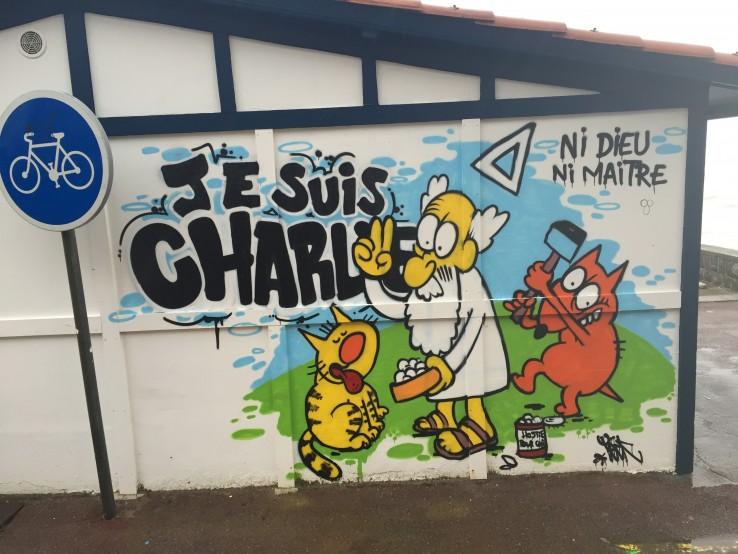 Charlie Hebdoren pintaketa Hendaian