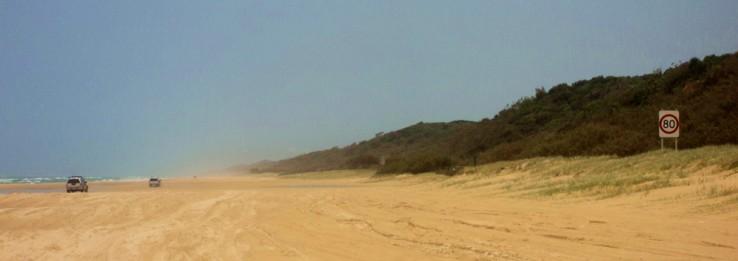 Hondarrezko errepideetan 4x4an (Fraser Island-Australia)