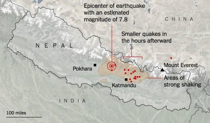 Bi milatik gora hildako jada Nepaleko lurrikaran