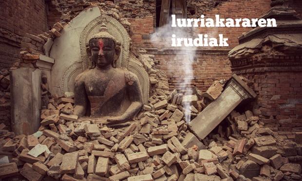 Kathmanduko lurrikararen irudiak