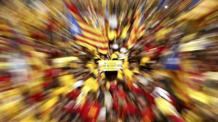 Kataluniako Diada (egunkarien azaletan)