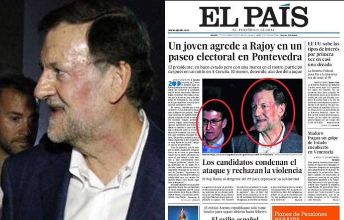 Rajoyren kolpea makilatzen