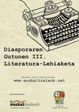 Gutunen III. Literatura Lehiaketa