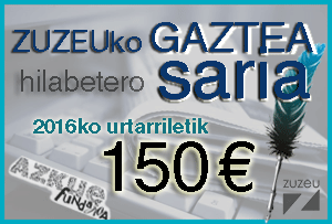 Zuzeu Gaztea sariak otsailean beste 150 euro ditu zeuretzako