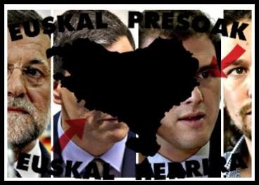 Zer diote Espainiako presidentegaiek presoak hurbiltzeari buruz?