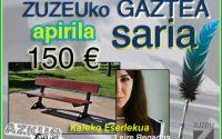 Leire Regadasek irabazi du apirileko Zuzeuko Gaztea Saria
