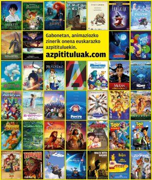 Animaziozko filmak euskarazko azpidatziekin, Gabonetarako