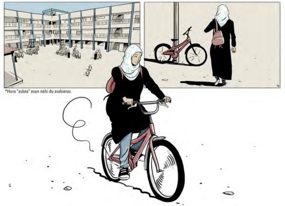 Gazako zerrendako lau emakume
