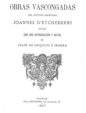 Joannes Etcheberri Saracoaren euscal obrac
