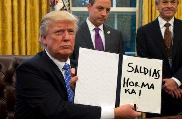 Algaraka jarriko zaituen Donald Trumpen memea